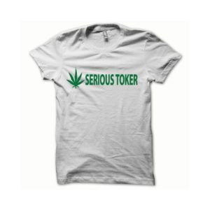 T-shirt Serious Toker green-white