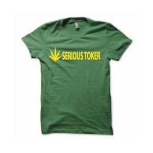 T-shirt Serious Toker yellow-green