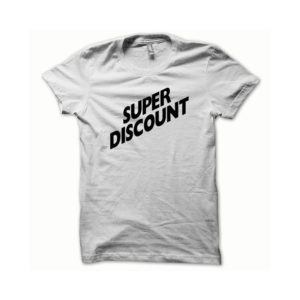 T-shirt Super Discount white-black