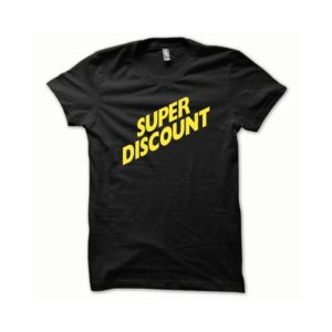 T-shirt Super Discount yellow-black