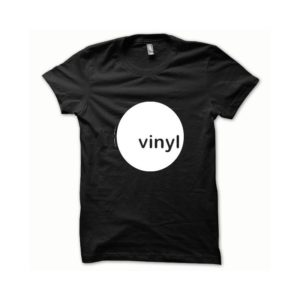 T-shirt Vinyl white-black