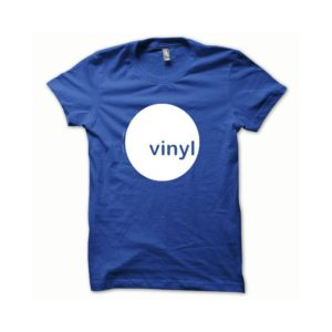 T-shirt Vinyl white-blue