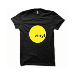 T-shirt Vinyl yellow-black