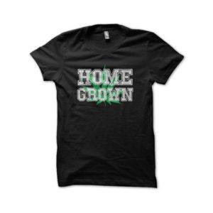T-shirt black cannabis Home Grown