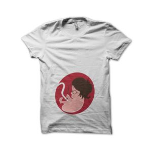 T-shirt foetus Harry Potter white