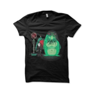 T-shirt hp lovecraft and his creature