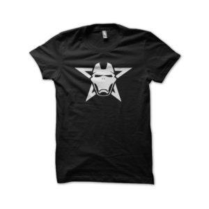 T-shirt iron man black skull