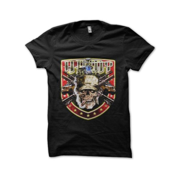 T-shirt skull marines us army