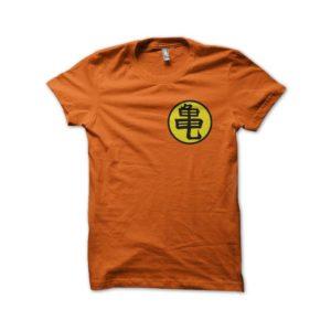 T-shirt symbol Tortue Géniale Muten Roshi's kanji orange