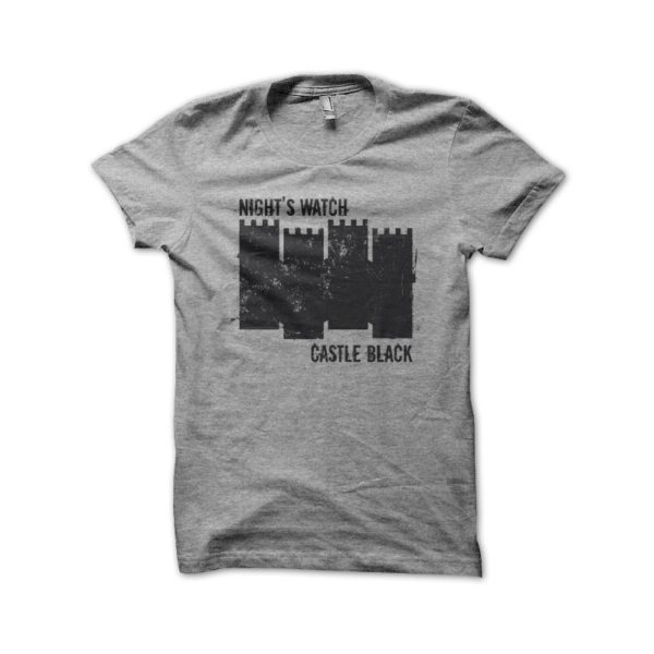 Tee Shirt Black Castle Grey