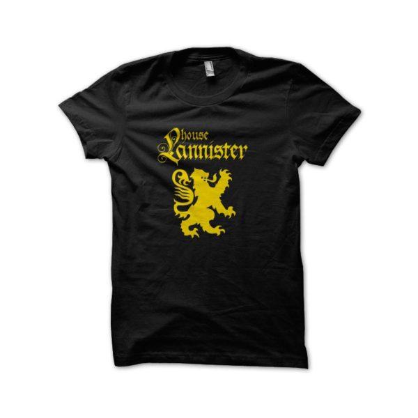 Tee Shirt GoT black Lannister