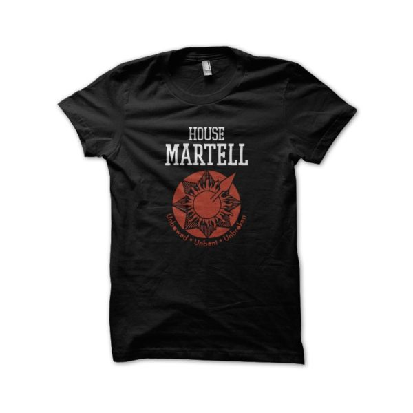 Tee Shirt House Martell black