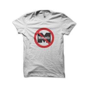 Tee Shirt No Monsanton - Non a monsanto Ogm Blanc