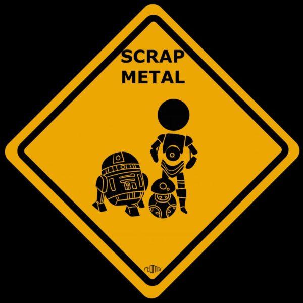 Tee shirt C3PO R2D2 BB-8 - Scrap metal Star Wars