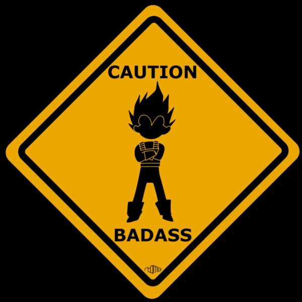 Tee shirt Vegeta - Dragon Ball Z Caution badass