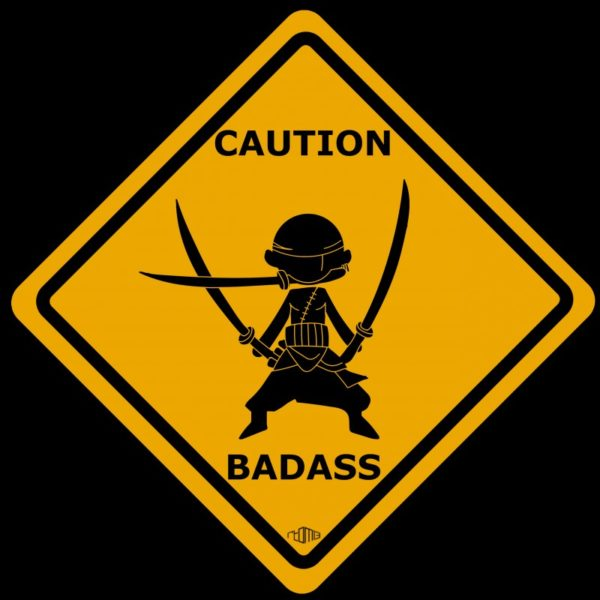Tee shirt Zoro Roronoa - One Piece Caution badass