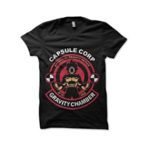 Tee shirt capsule corp gravity dragon ball
