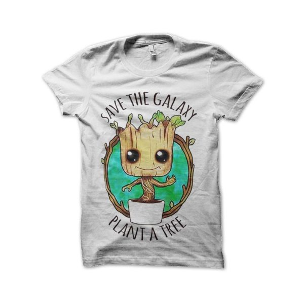 Tee shirt groot guardians of the galaxy save a tree