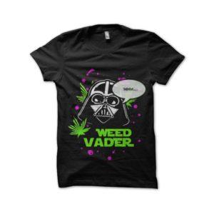 Tee shirt vader and the weed