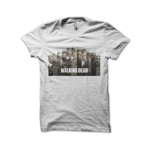The walking dead shirt white characters