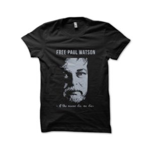 Tshirt Free Paul Watson Sea Shepperd black