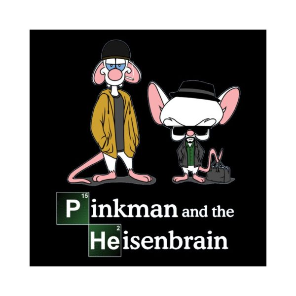 Tshirt parody Breaking bad souris pinkman and heisenbrain black