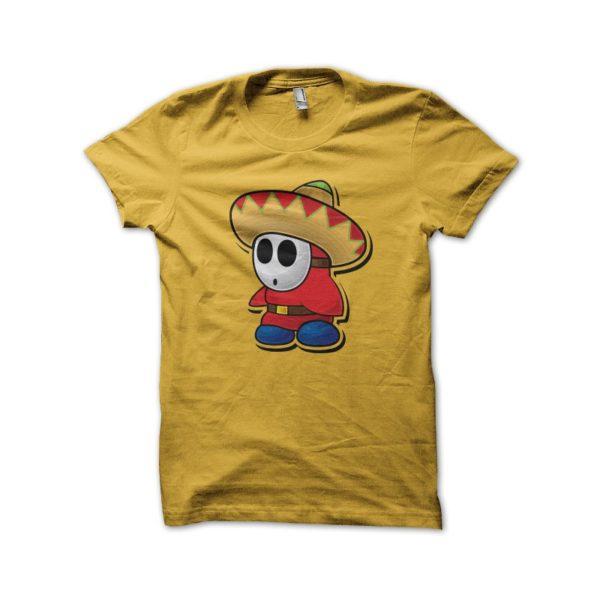 Yellow sombrero mexico shirt