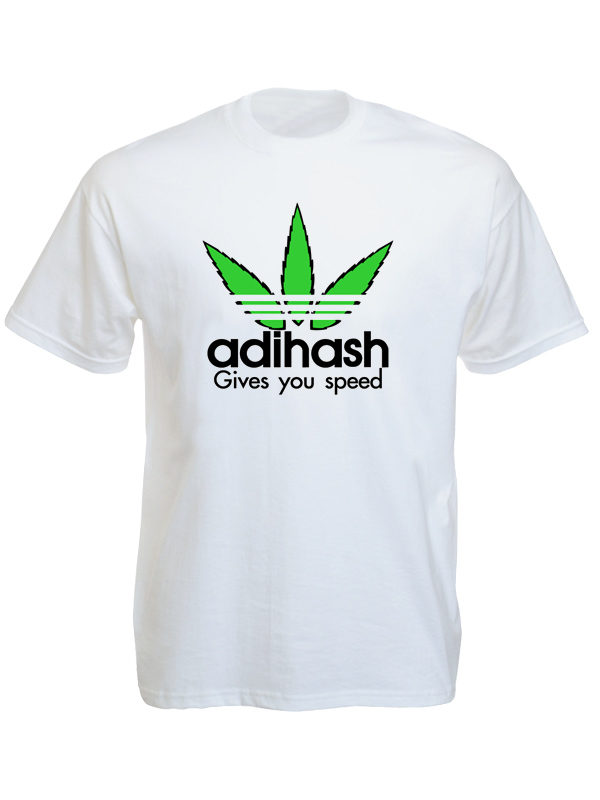 Adihash Gives you Speed White Tee-Shirt