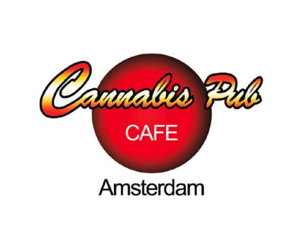 Amsterdam Cannabis Pub Cafe White Tee-Shirt