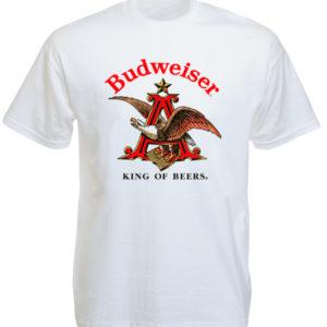 Budweiser Beer Logo White Tee-Shirt