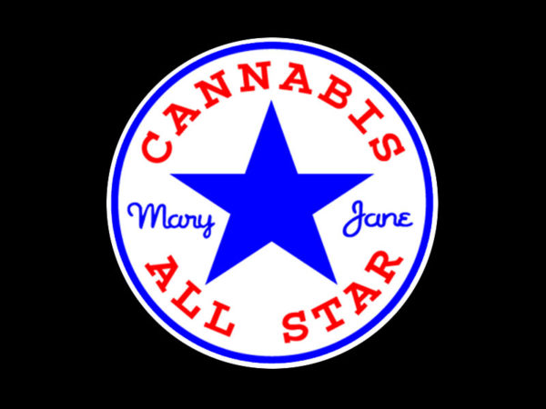 Converse Cannabis All Star Black Tee-Shirt