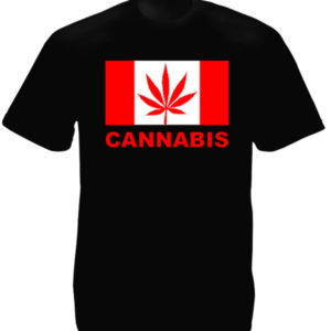 Canada Cannabis Black Tee-Shirt