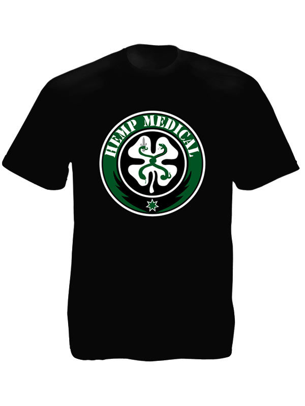 Medical Hemp Black Tee-Shirt