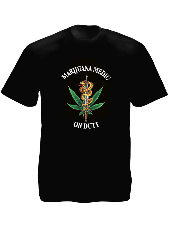 T-Shirt Noir Cannabis Pharmaceutique