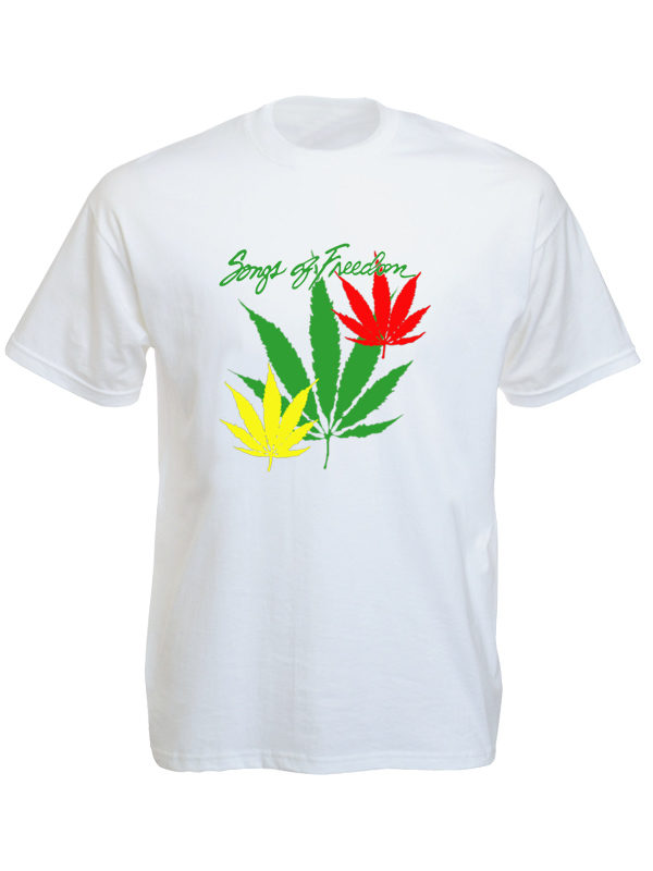Bob Marley Songs of Freedom White Tee-Shirt