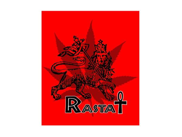 Rasta Ankh Lion Cannabis White Tee-Shirt