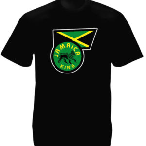 Jamaica Flag Jamaica King Black Tee-Shirt