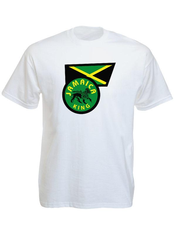Jamaica Flag Jamaica King White Tee-Shirt