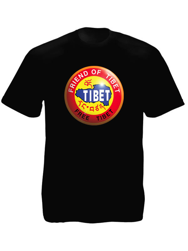 Free Tibet Friend of Tibet Black Tee-Shirt