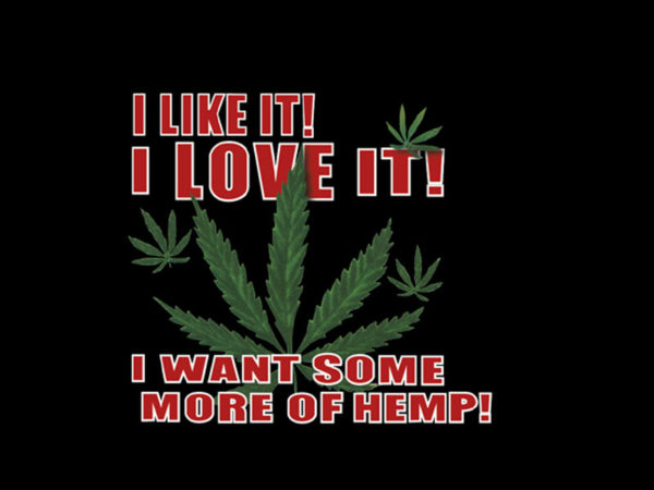 I Love Ganja Black Tee-Shirt