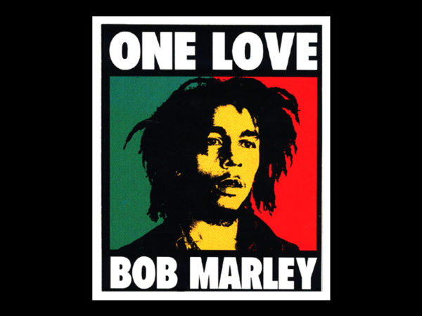 Bob Marley One Love Album Black Tee-Shirt