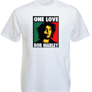 Bob Marley One Love Album White Tee-Shirt