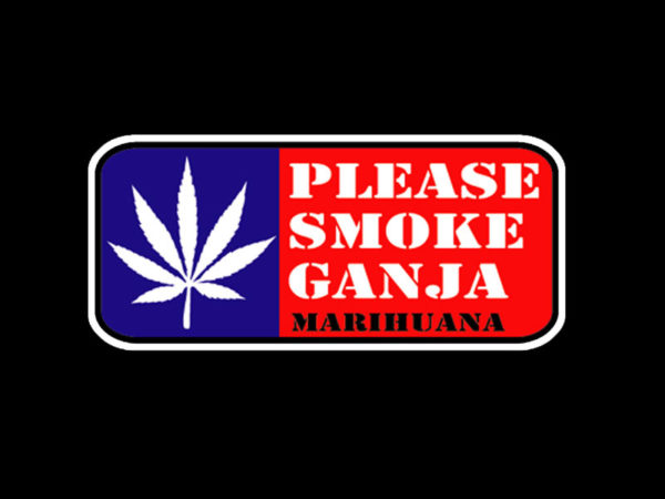 Please Smoke Ganja Black Tee-Shirt