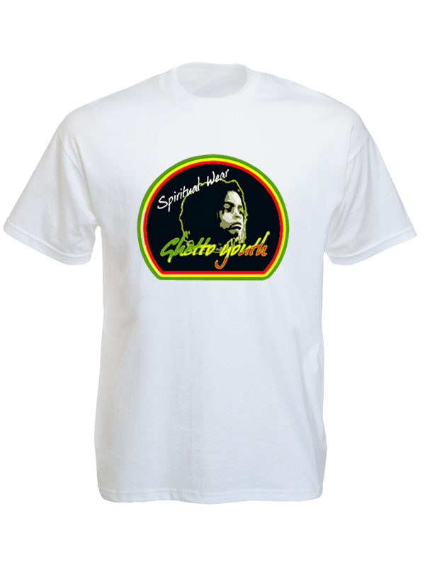 Ghetto Youth Rastafari Spiritual Wear White Tee-Shirt