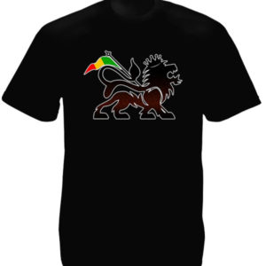 Lion of Judah Rasta Flag Black Tee-Shirt