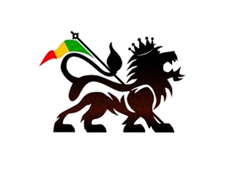 Lion of Judah Rasta Flag White Tee-Shirt - Black-White ...