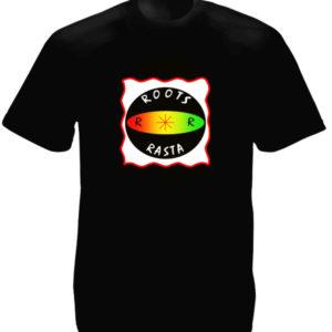 T-Shirt Noir Roots Rasta