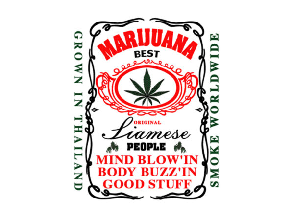 Thailand Best Marijuana White Tee-Shirt