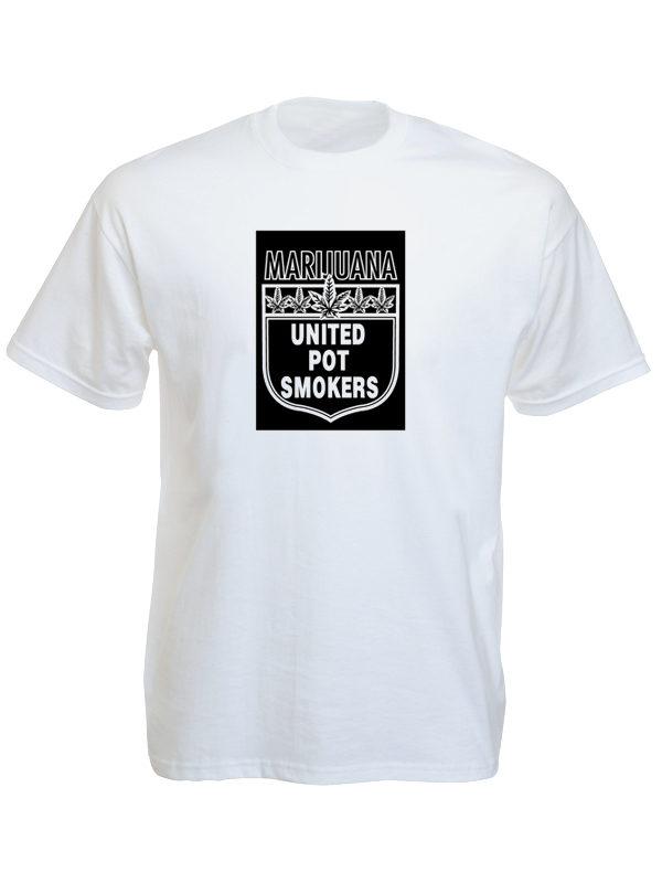 Marijuana United Pot Smokers White Tee-Shirt