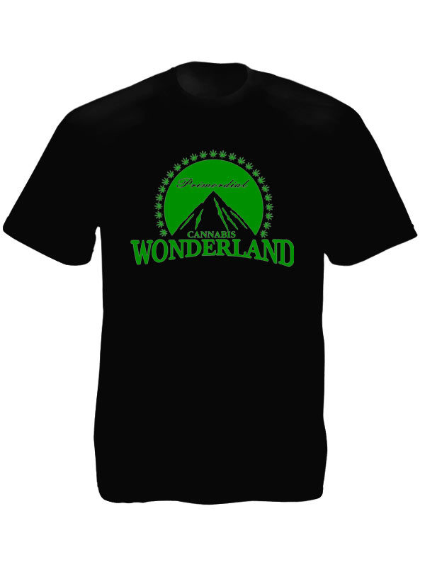 Paramount Wonderland Cannabis Black Tee-Shirt